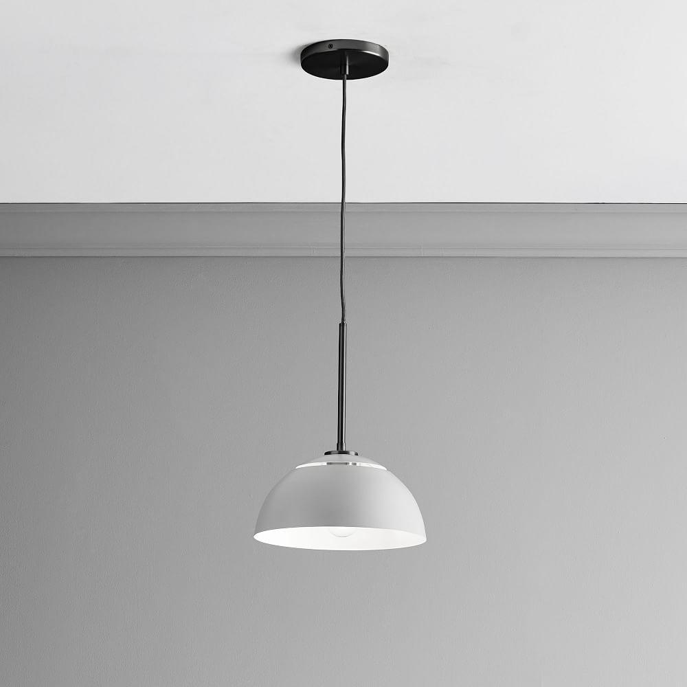 Sculptural Metal Pendant - Medium (Grey)