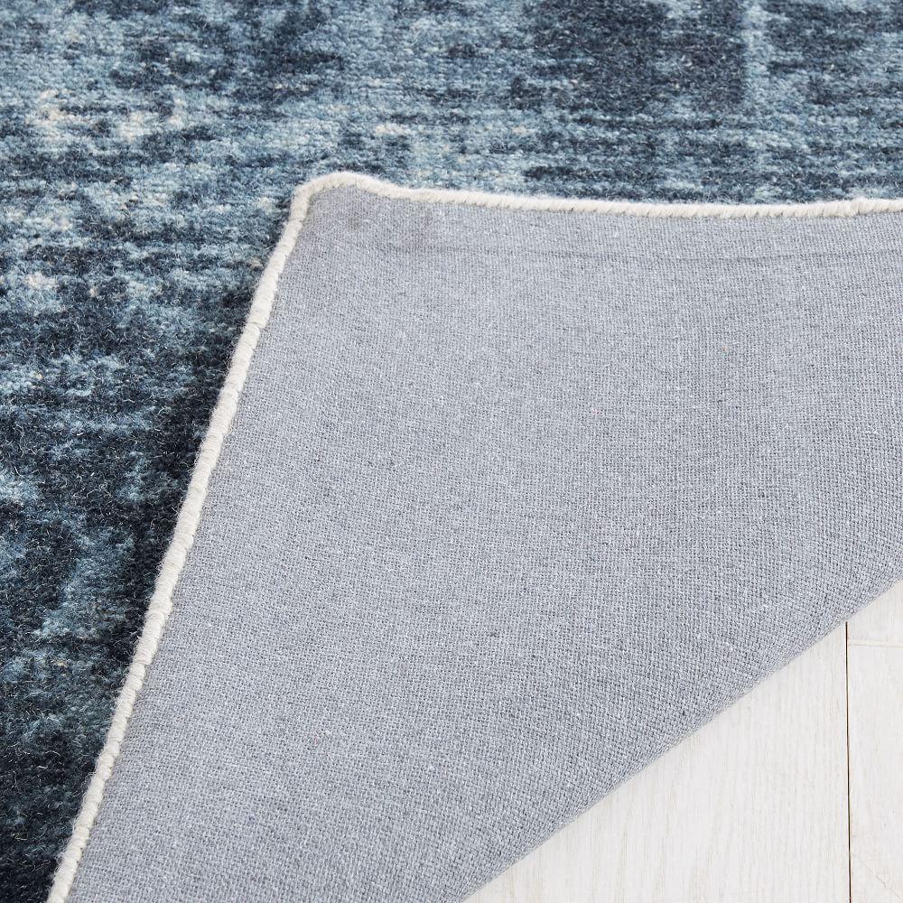 Distressed Arabesque Wool Rug Midnight West Elm Australia