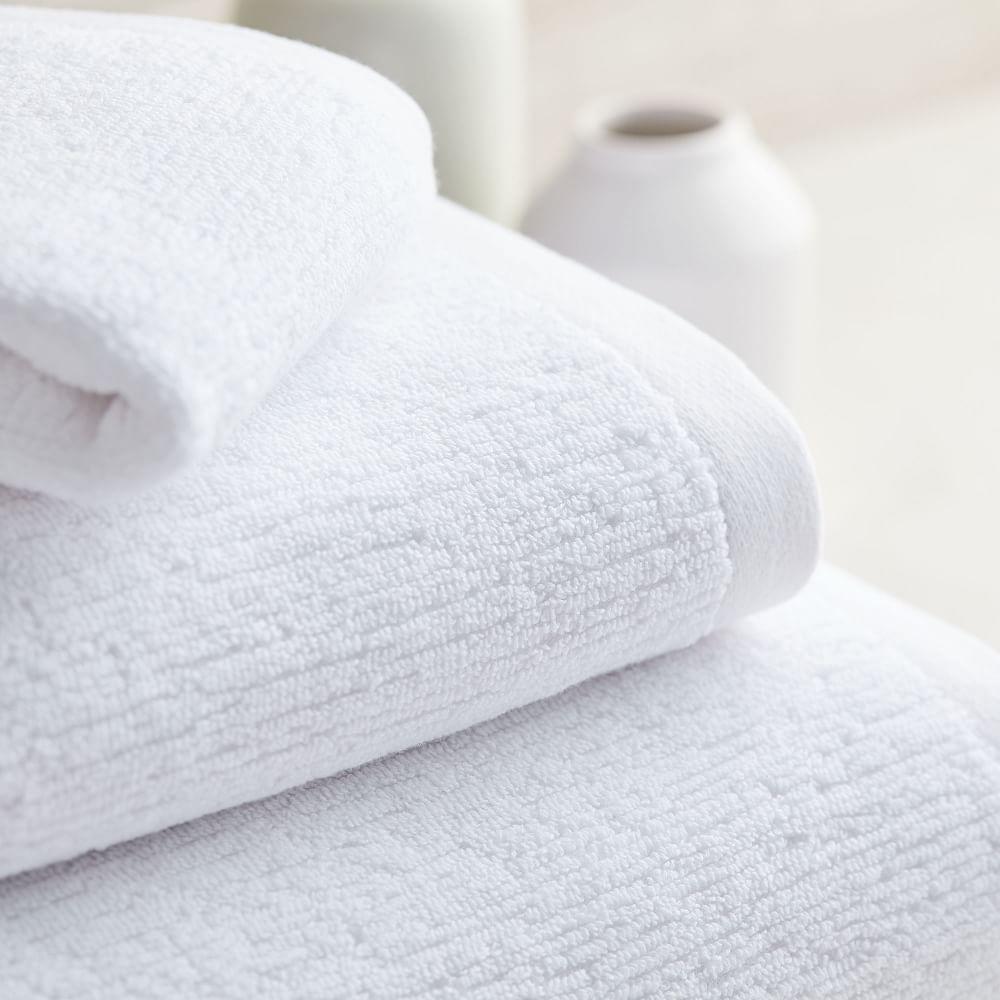 Organic Textured Towels - White
