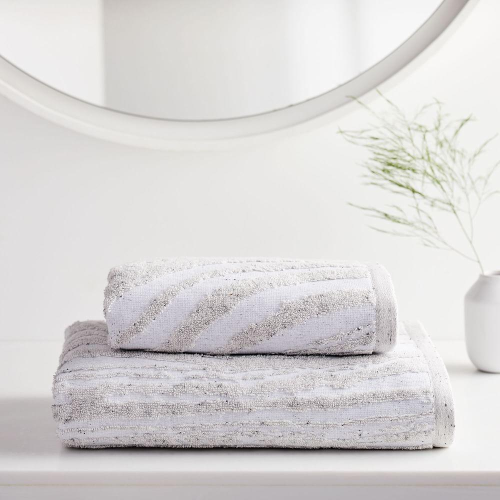 Organic Marble Sculpted Towels