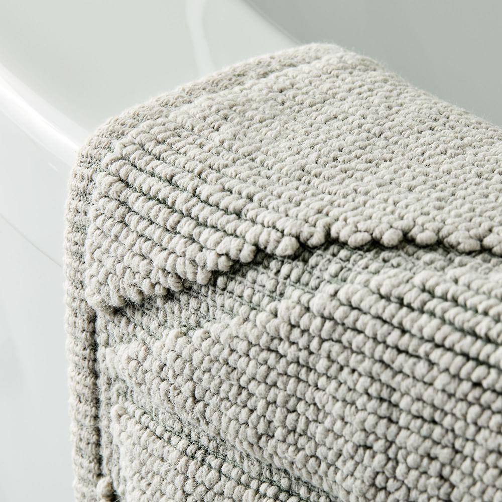Organic Triangle Sculpted Bath Mat - Grey Sky