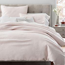 TENCEL™ Cotton Matelasse Quilt Cover + Pillowcases - Pink Blush