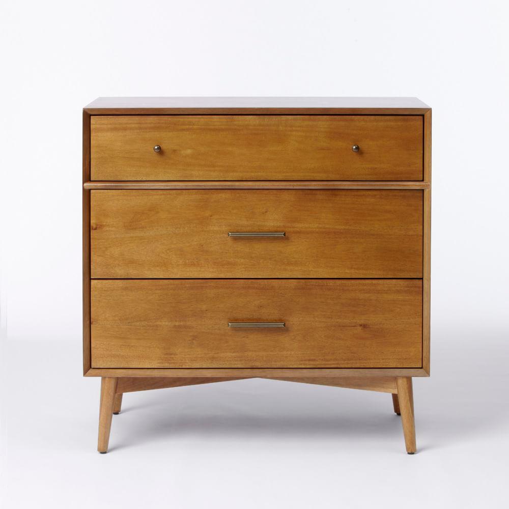 Mid-Century 3-Drawer Dresser - Acorn
