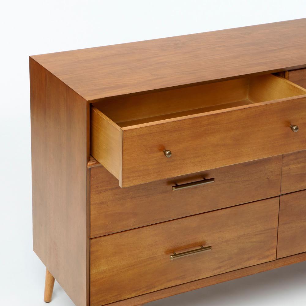 Mid-Century 6-Drawer Dresser - Acorn