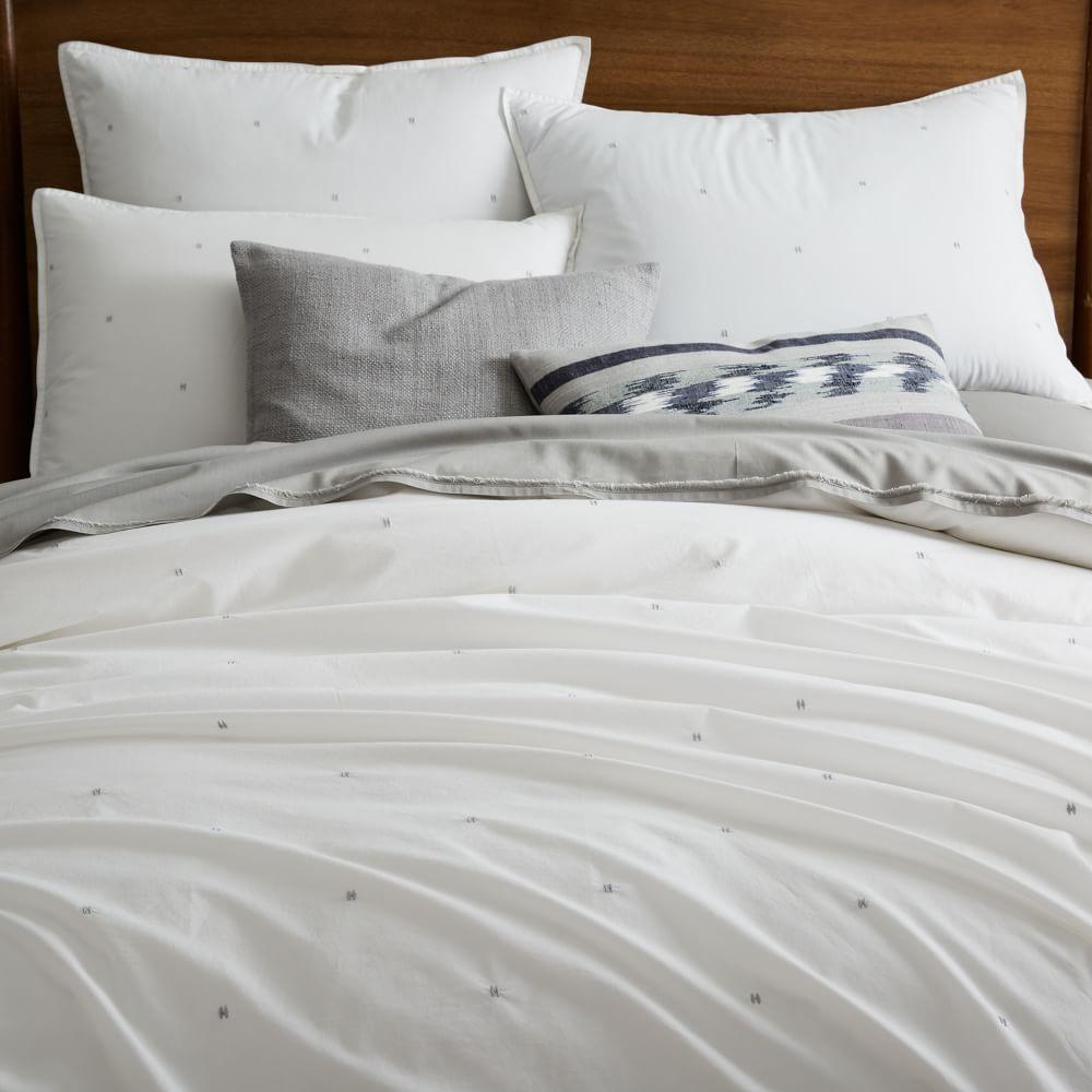 Organic Washed Cotton Quilt Cover + Pillowcases - Stone White