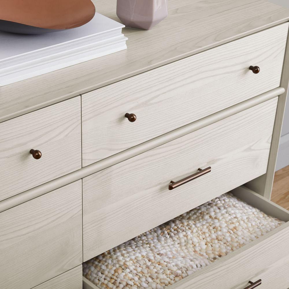 Mid-Century 6-Drawer Dresser - Pebble