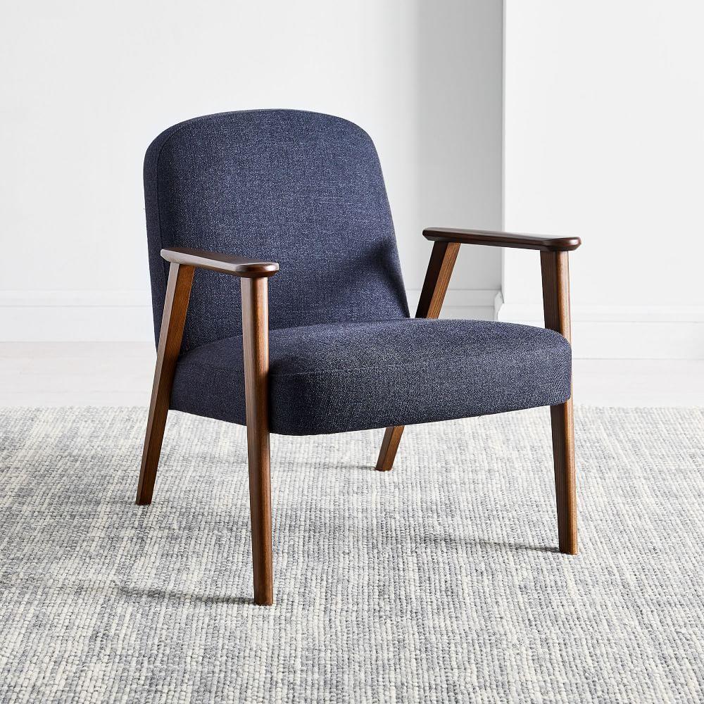 Janie Show Wood Chair - Black Indigo (Twill)