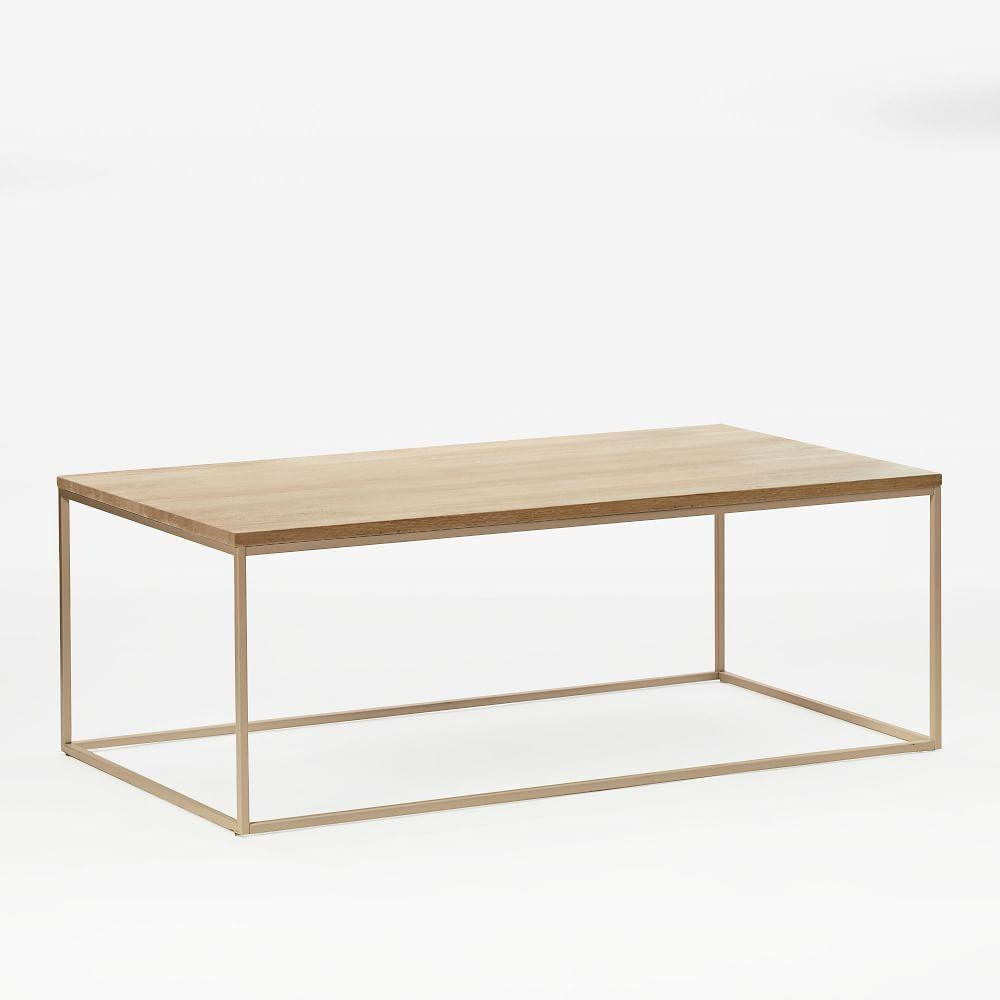 Streamline Coffee Table (112 cm) - Whitewashed/Light Bronze