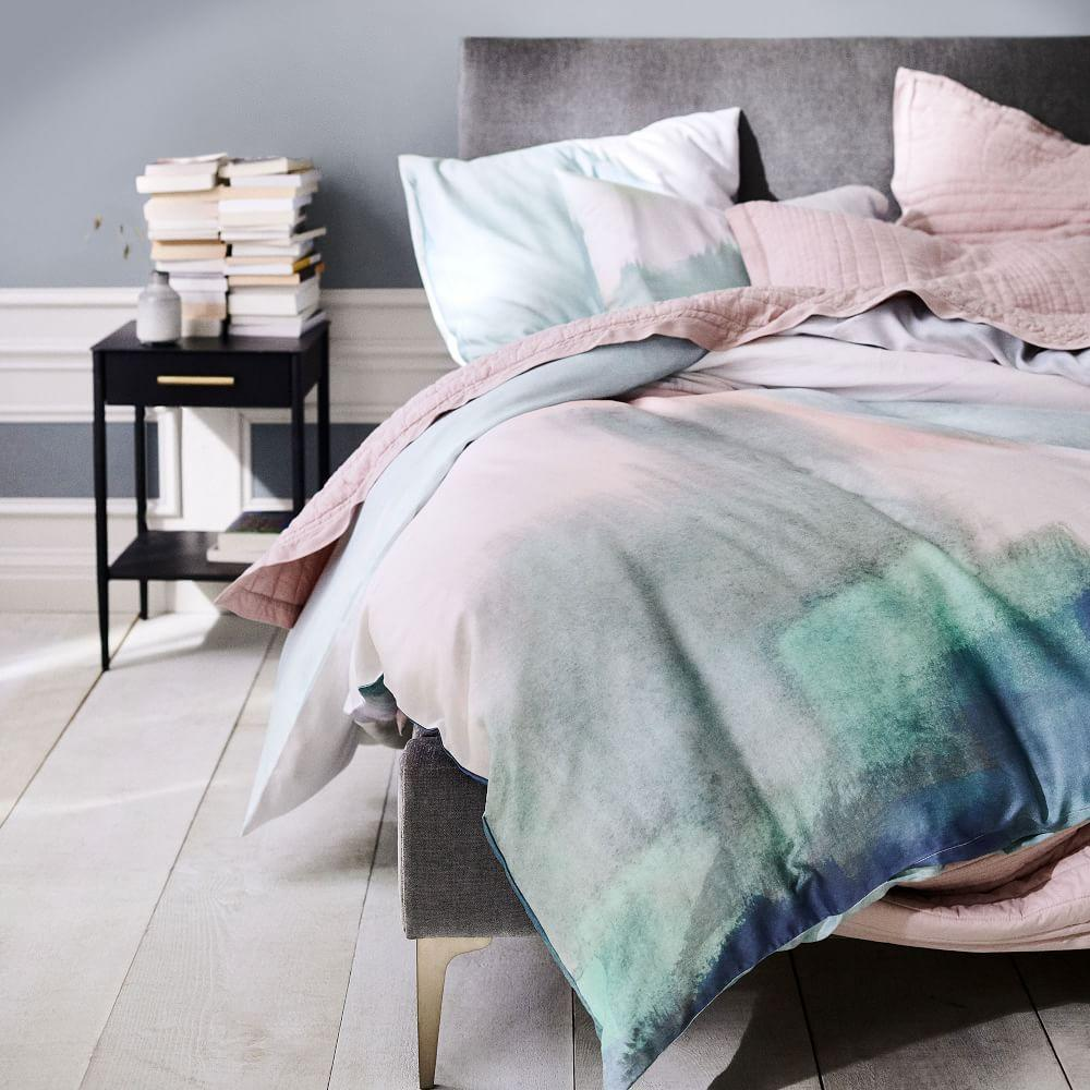 TENCEL™ Abstract Landscape Quilt Cover + Pillowcases