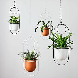 Paperclip Hanging Planters