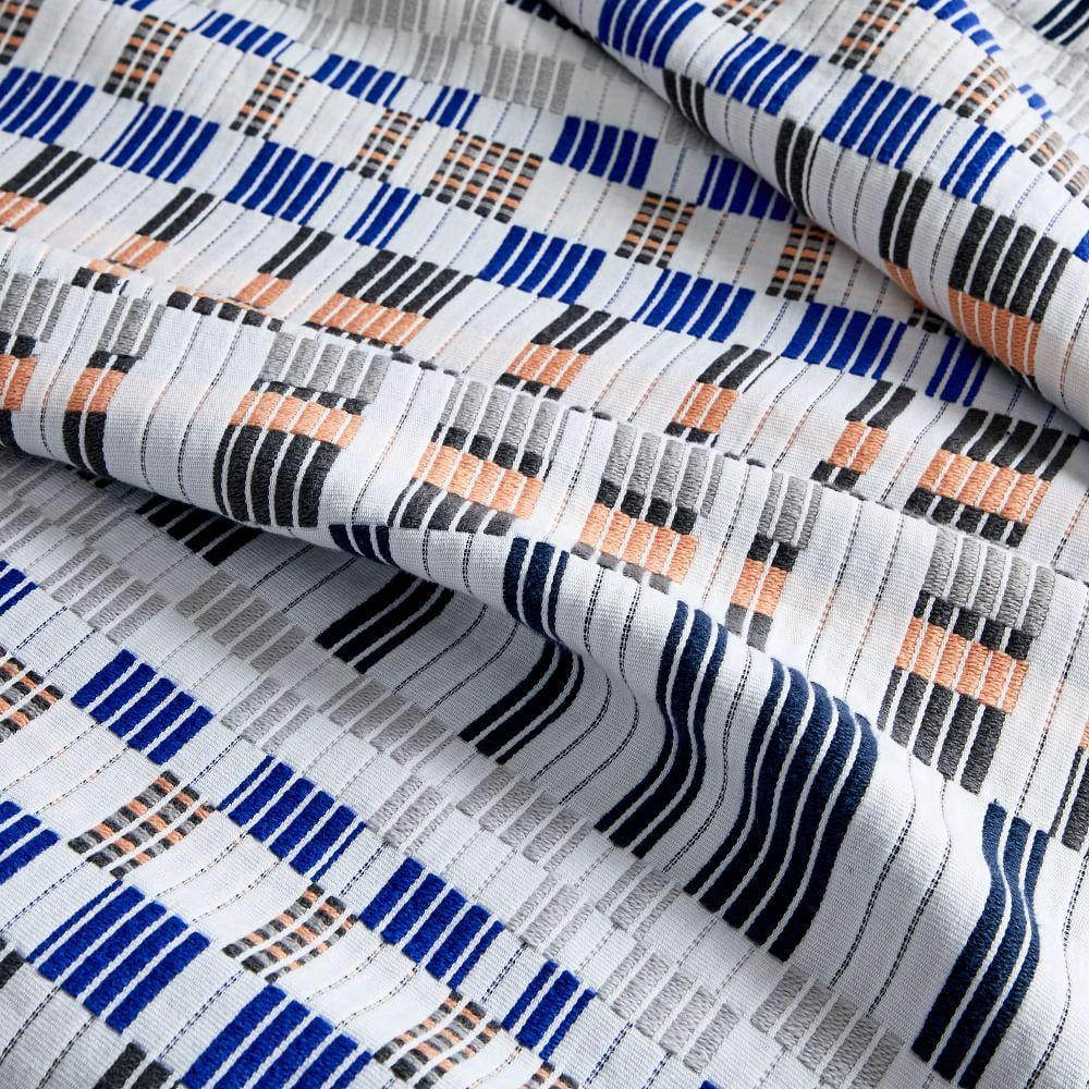 Organic Cotton Ribbon Stripe Blanket