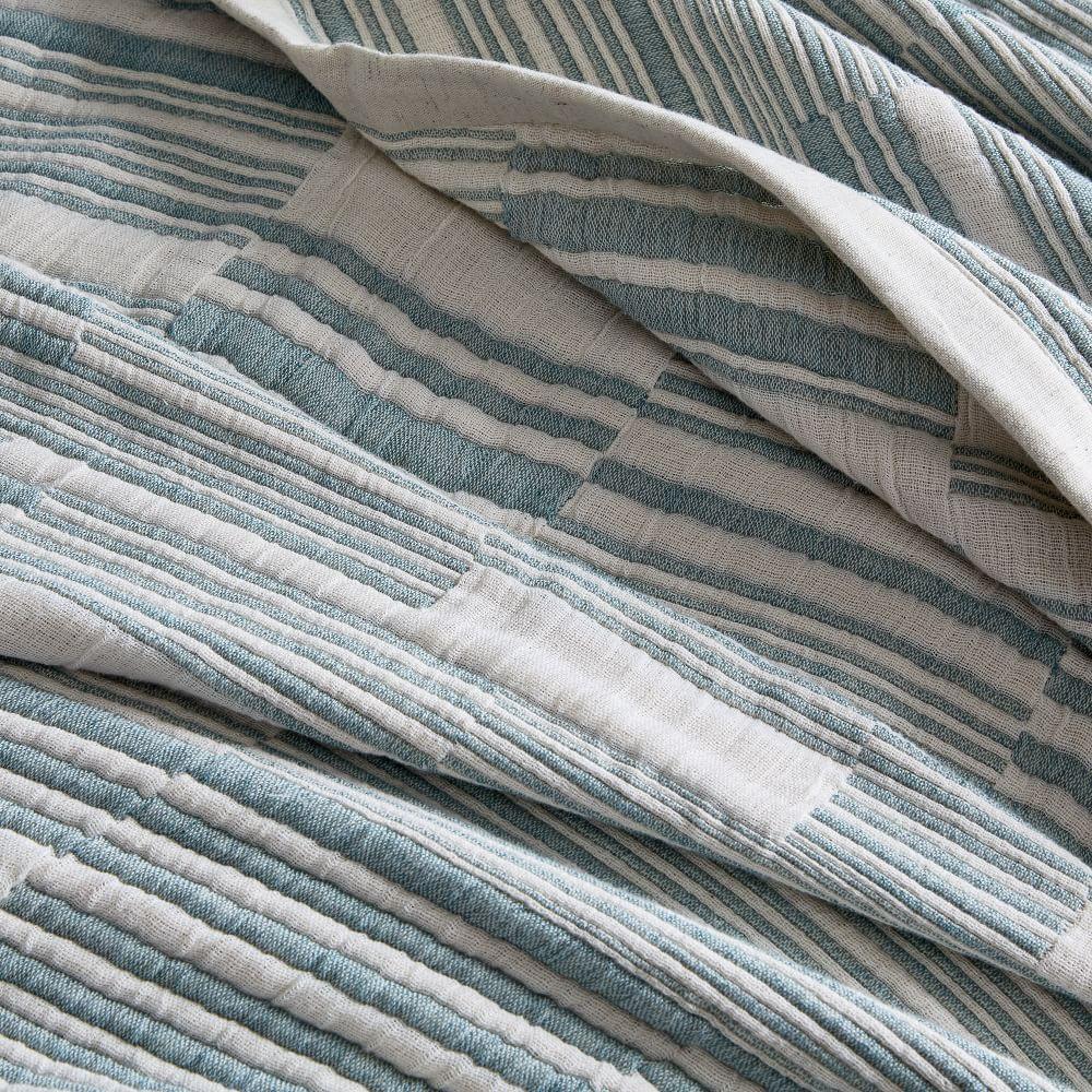 Double Cloth Offset Stripe Blanket