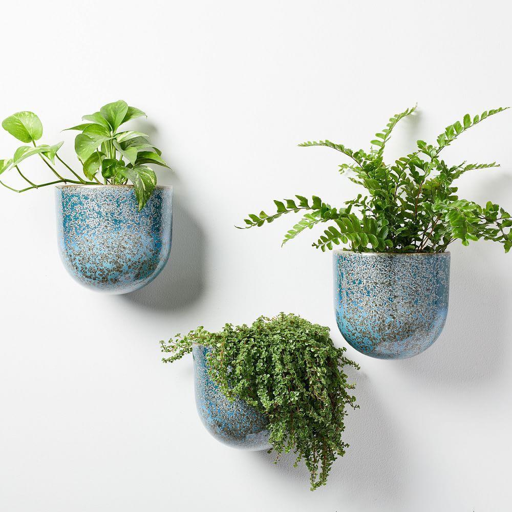 Ceramic Wallscape Planters - Reactive Glaze