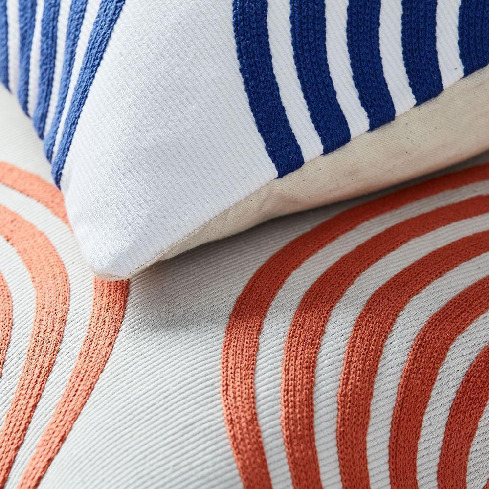 Corded Rippled Circles Cushion Cover
