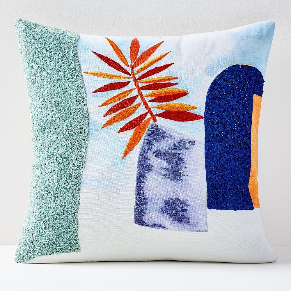 Embroidered Houseplant Cushion Cover