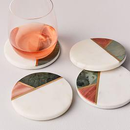 Mixed Marble Coasters (Set of 4)