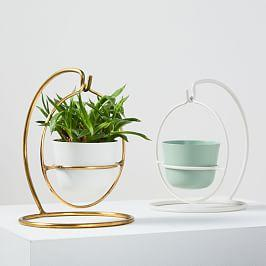 Portico Standing Planters - Orb