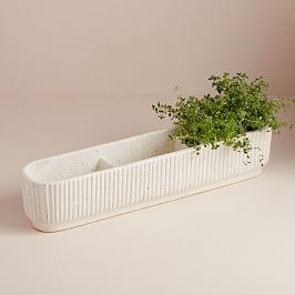 Fluted Windowsill Planter