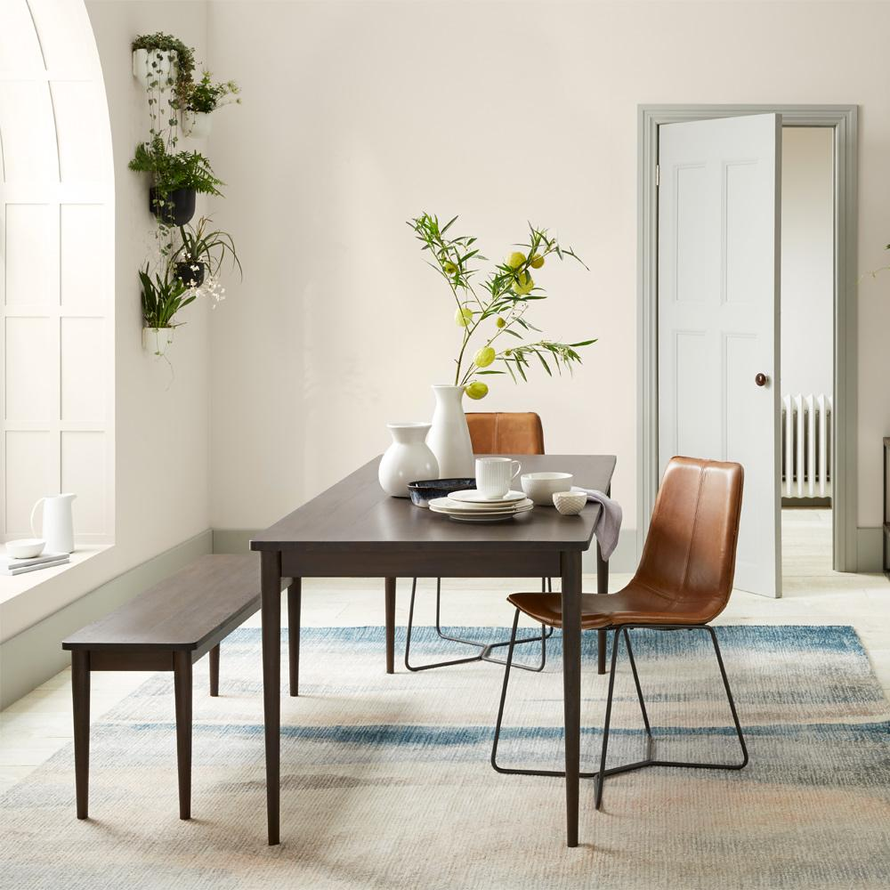 Modern Farmhouse Expandable Dining Table - Dark Mineral