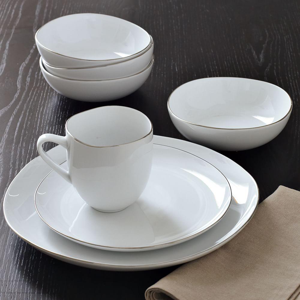 White Dishes Modern Tableware