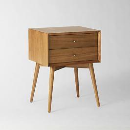 Mid-Century Bedside Table - Acorn
