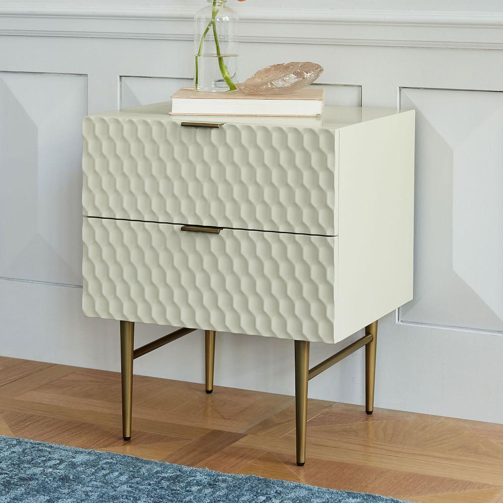 Audrey Bedside Table - Parchment