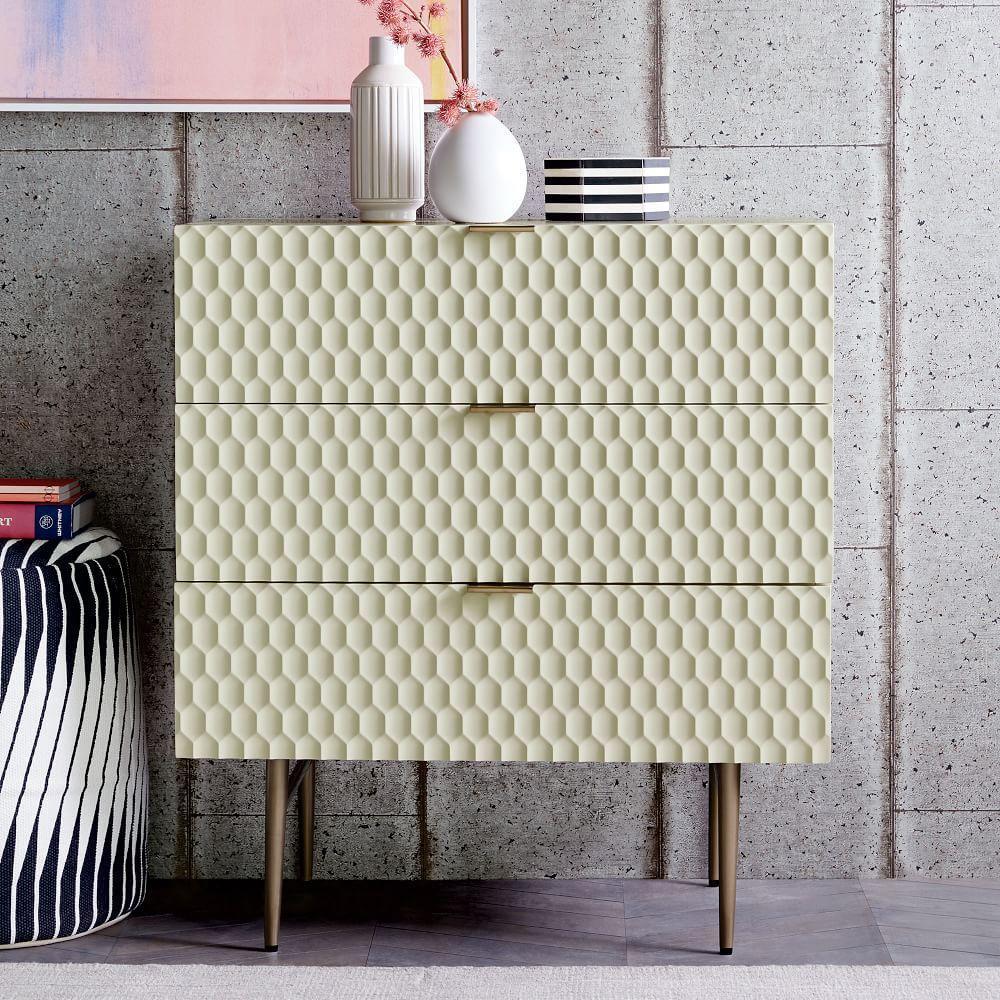 Audrey 3-Drawer Dresser - Parchment