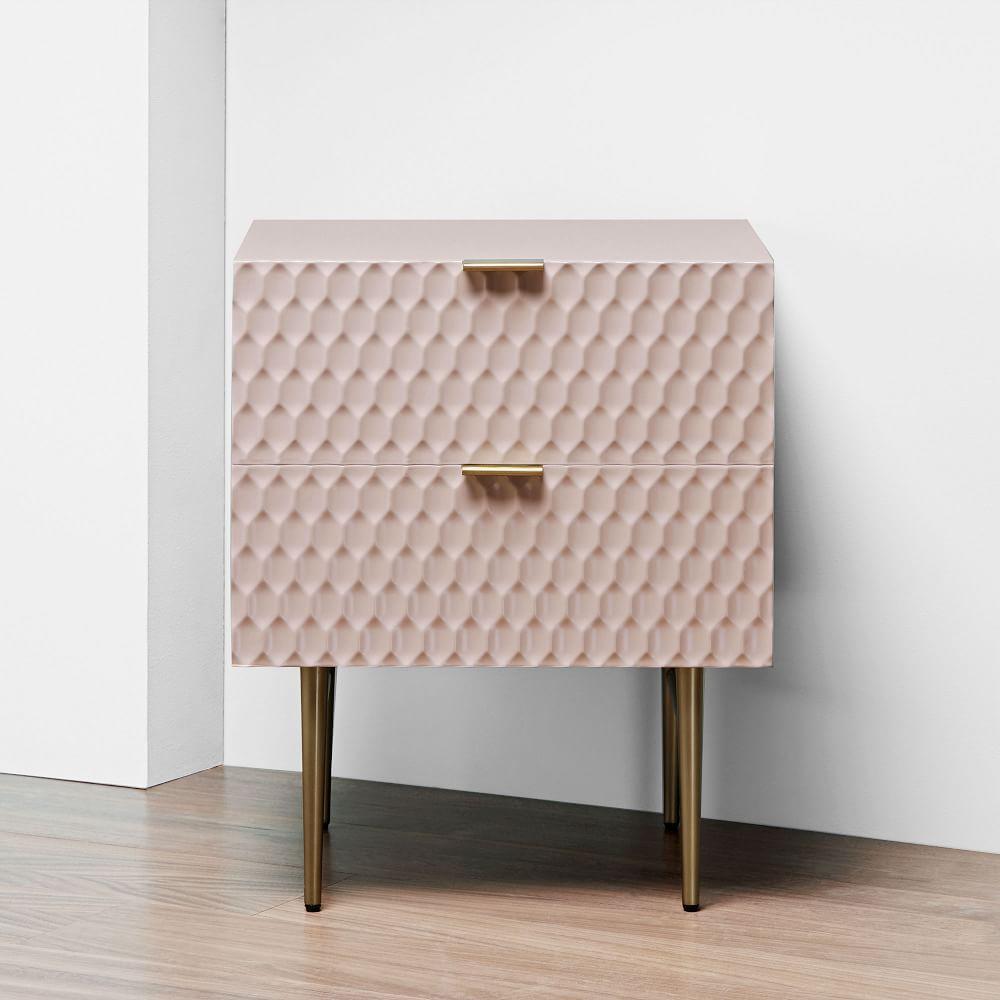 Audrey Bedside Table - Blush