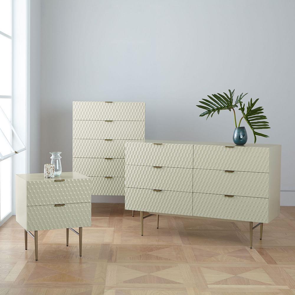 Audrey 6-Drawer Dresser - Parchment