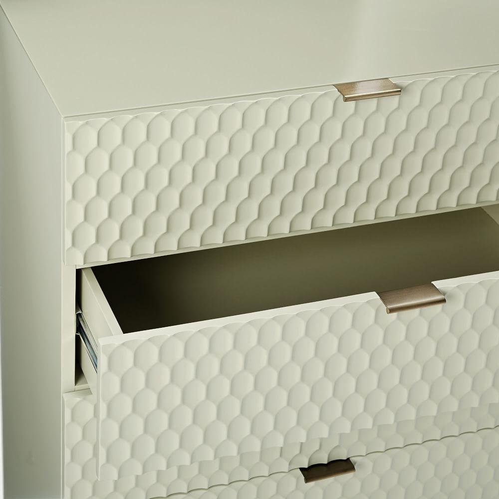 Audrey 5-Drawer Dresser - Parchment