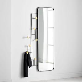 Sculptural Hook Wall Mirror - Rectangle