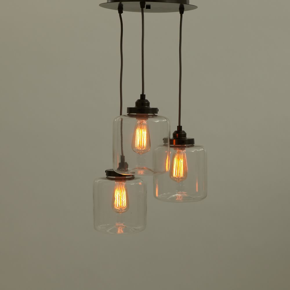 3 jar chandelier west elm australia 3 jar glass chandelier arubaitofo Choice Image