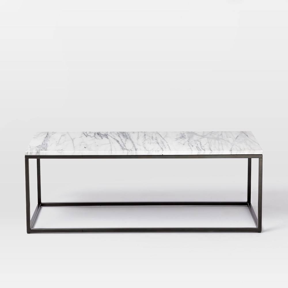 Vue Marble Coffee Table: Box Frame Coffee Table - Marble