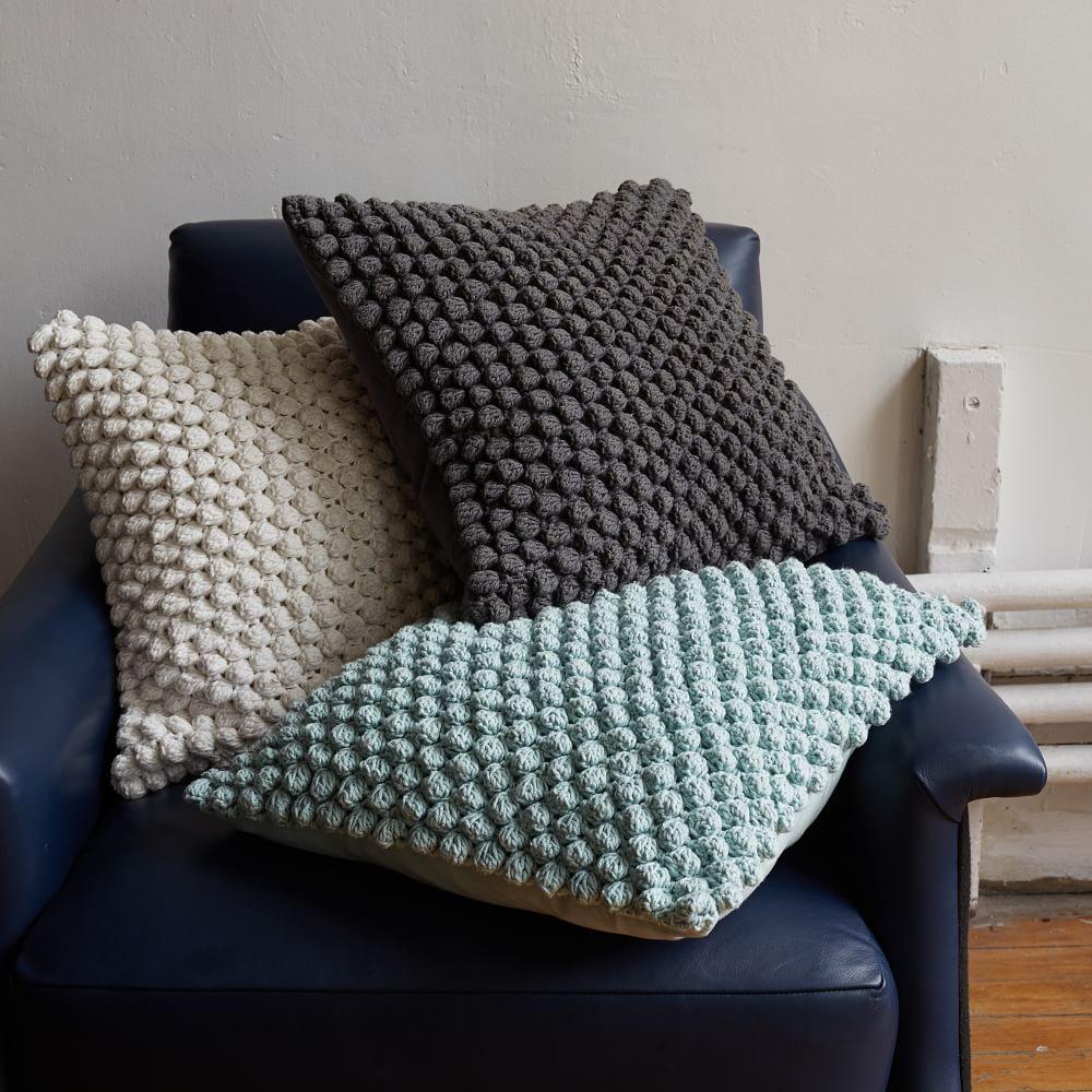Bubble Knit Cushion Cover Stone White West Elm Au