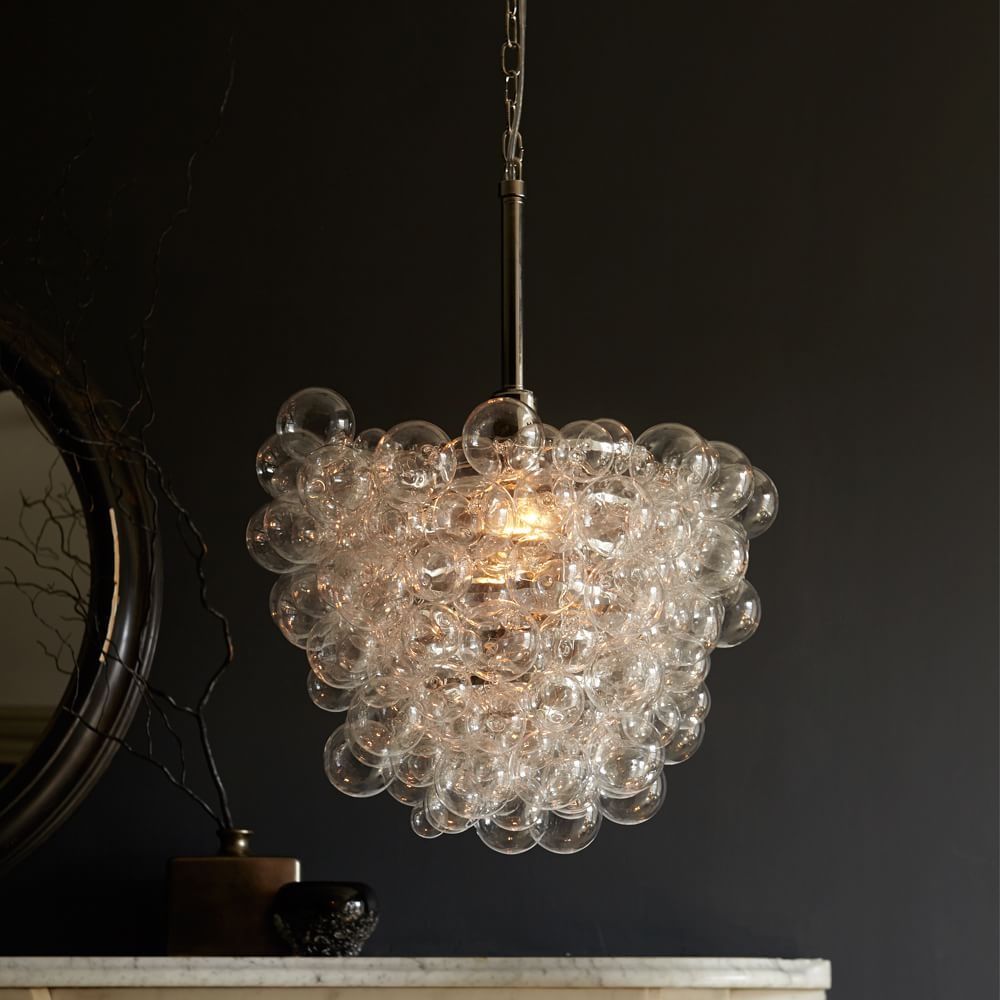 Droplet glass chandelier west elm au droplet glass chandelier droplet glass chandelier mozeypictures