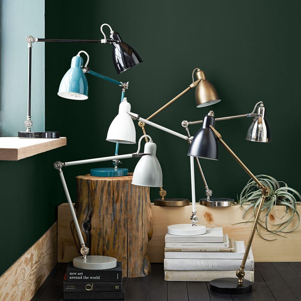 industrial task table lamp west elm australia. Black Bedroom Furniture Sets. Home Design Ideas