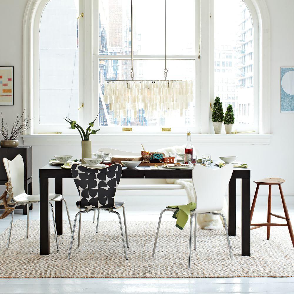 large rectangle hanging capiz chandelier white west elm au. Black Bedroom Furniture Sets. Home Design Ideas