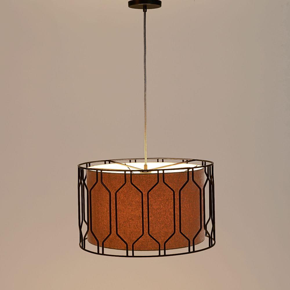 metal honeycomb drum pendant  west elm au - metal honeycomb drum pendant