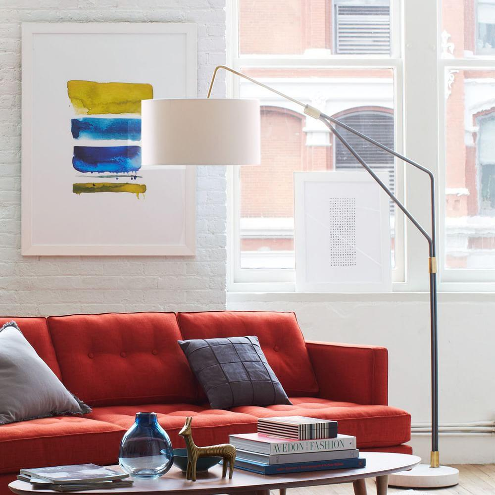 floor lamp overarching arc over for elm west table modern floors dining