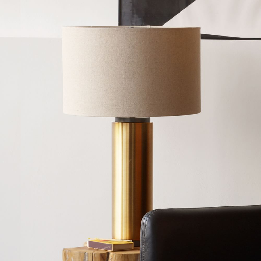 Pillar table lamp antique brass west elm australia pillar table lamp antique brass aloadofball Images