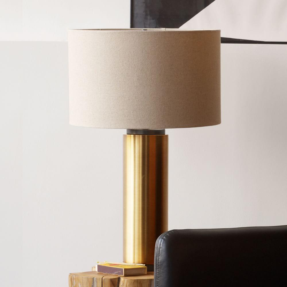 Pillar table lamp antique brass west elm au pillar table lamp antique brass aloadofball Images