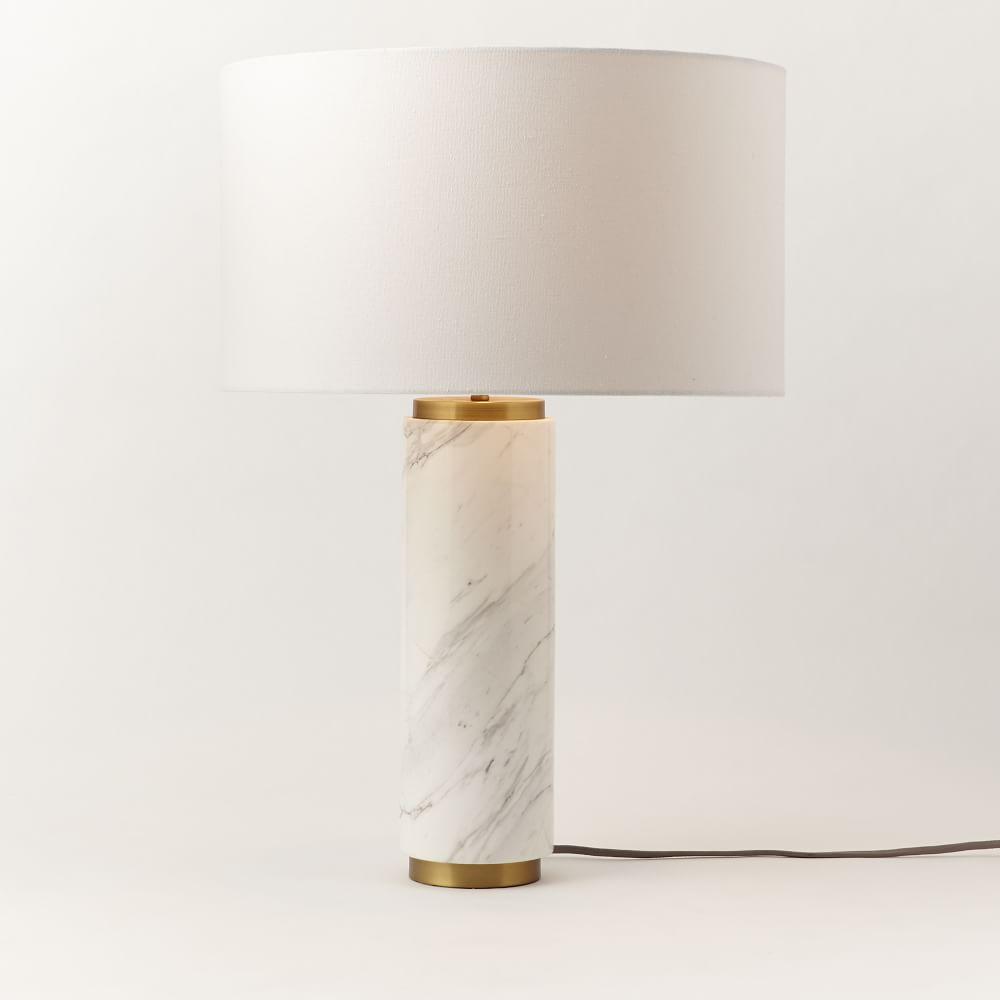 Pillar Table Lamp Marble West Elm Australia