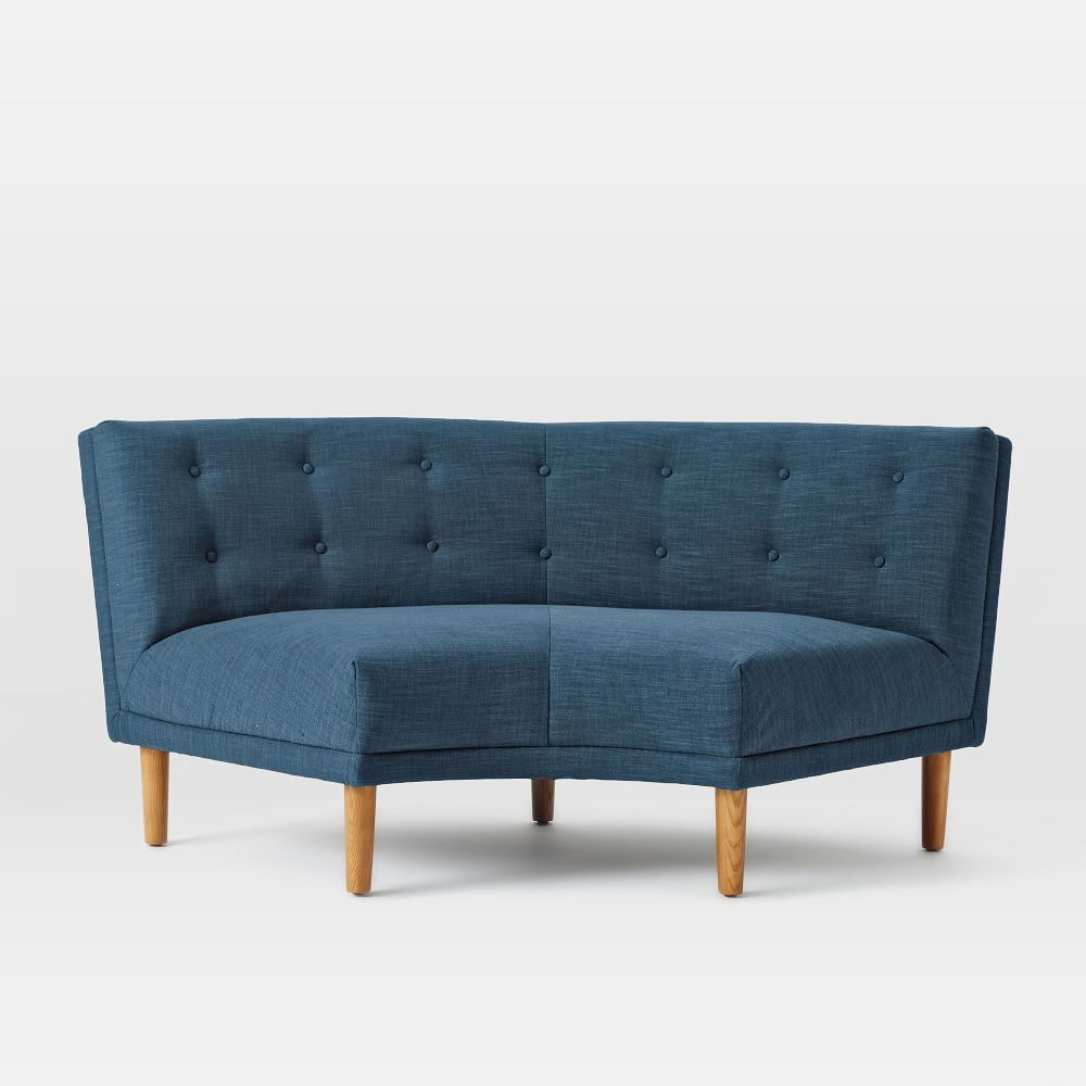 Rounded retro curved sofa Retro loveseats
