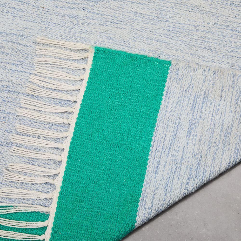 Offset Ombre Indoor/Outdoor Rug