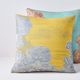Embroidered Etched Landscape Cushion Covers