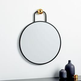 Geometric Hook Round Wall Mirror - 41 cm