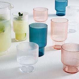 Fluted Acrylic Glassware