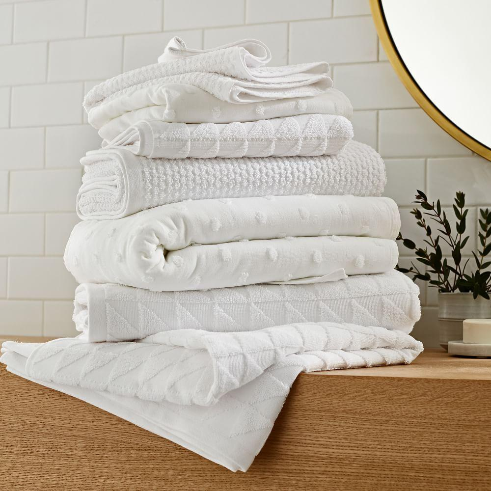 Organic Triangle Sculpted Towels