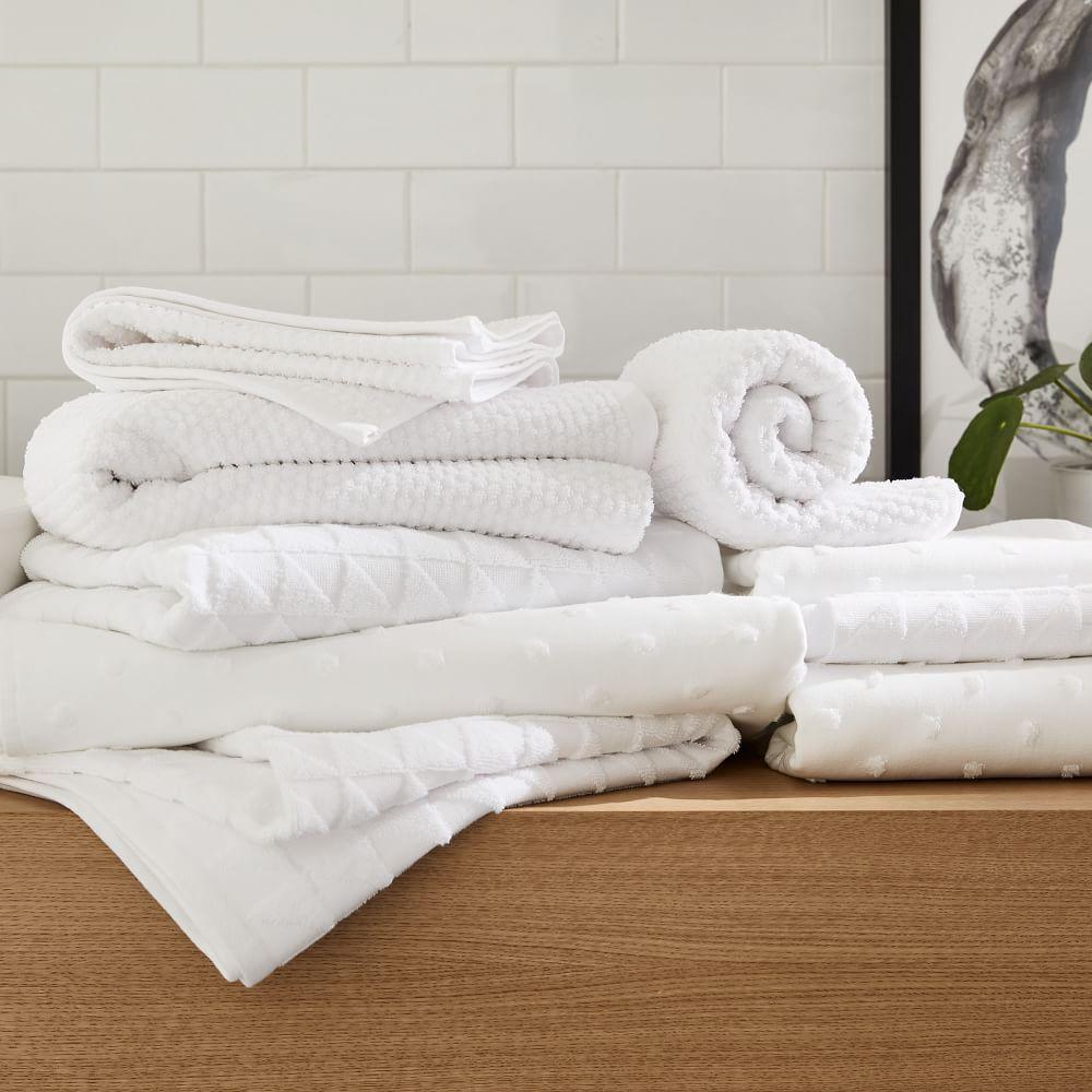 Organic Mini Dot Textured Towels