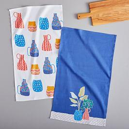 Painted Planters Tea Towels (Set of 2)